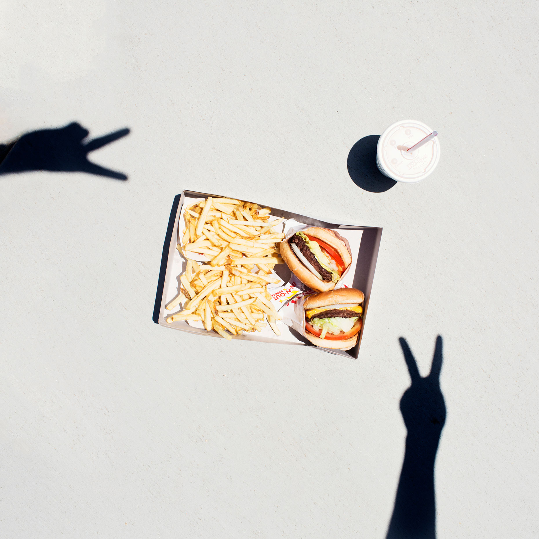 Summertime In-N-Out Burger snack. Kimberly Genevieve lifestyle photographer Los Angeles