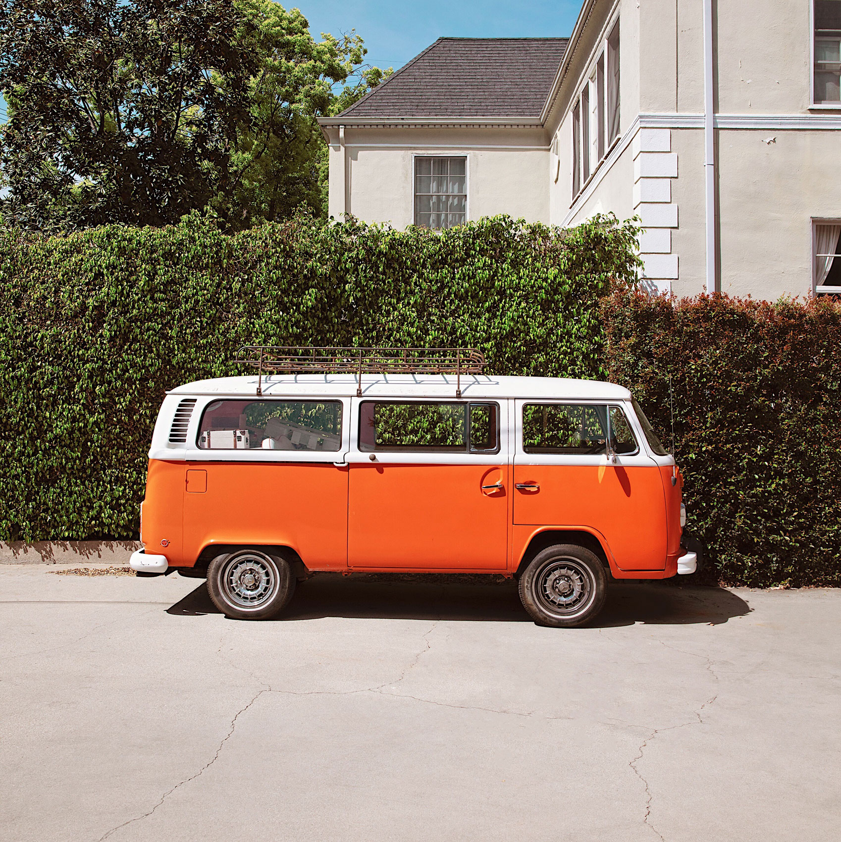 Orange VW bug. Kimberly Genevieve lifestyle photographer Los Angeles