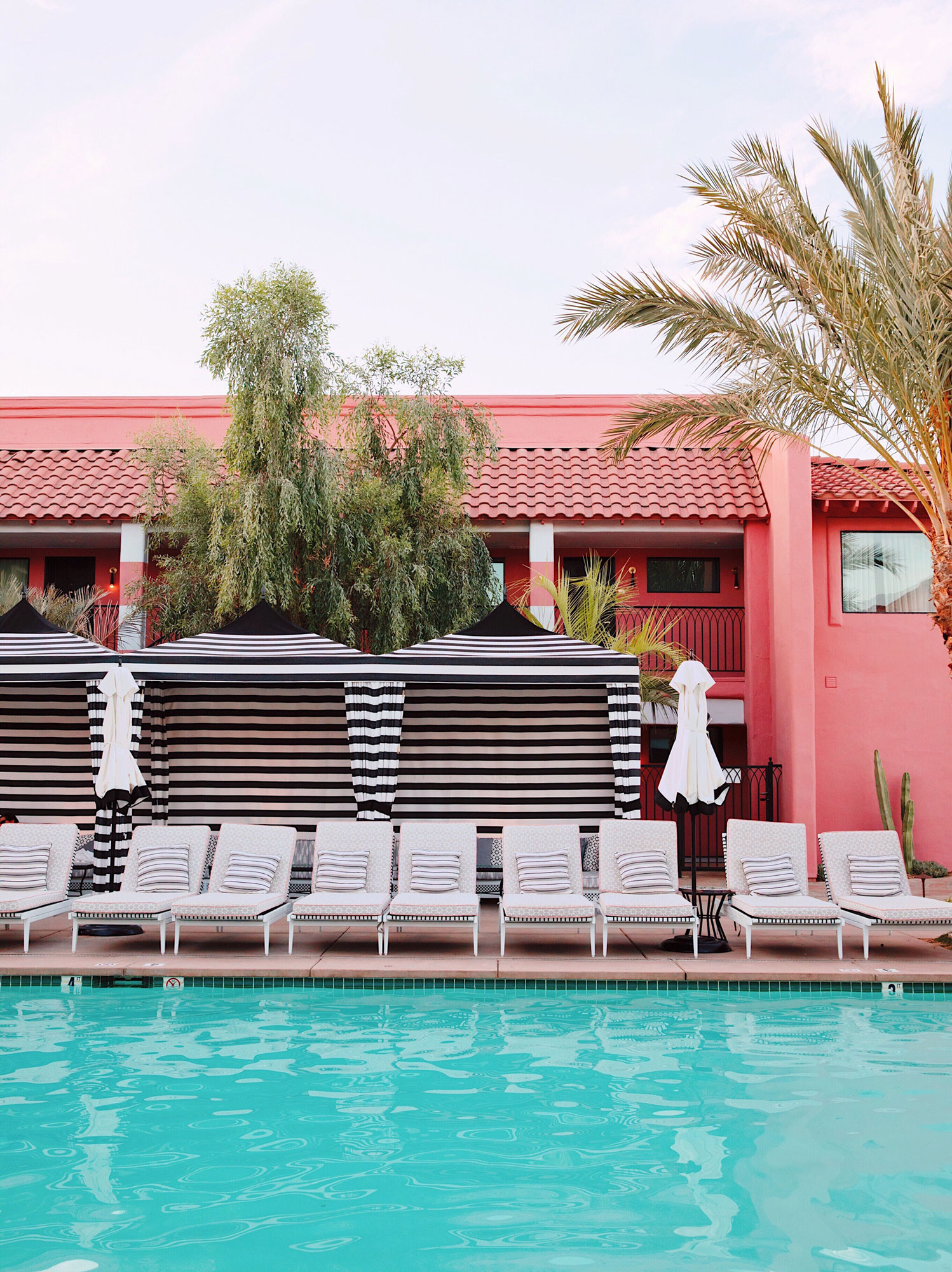 The Sands Hotel in Palm Springs. Kimberly Genevieve lifestyle photographer Los Angeles