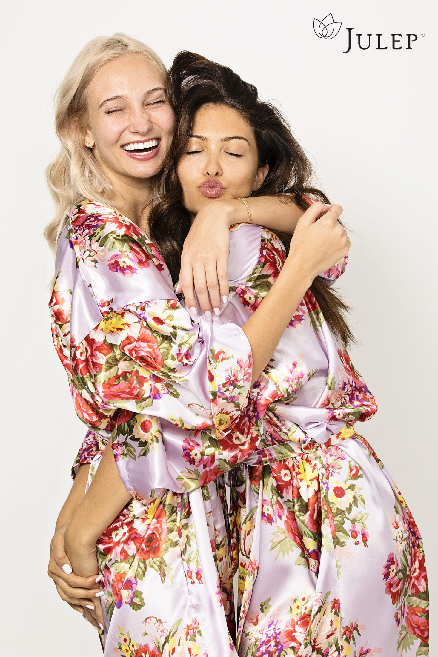 Two friends hugging and laughing - Kim Genevieve Los Angeles Lifestyle Photographer