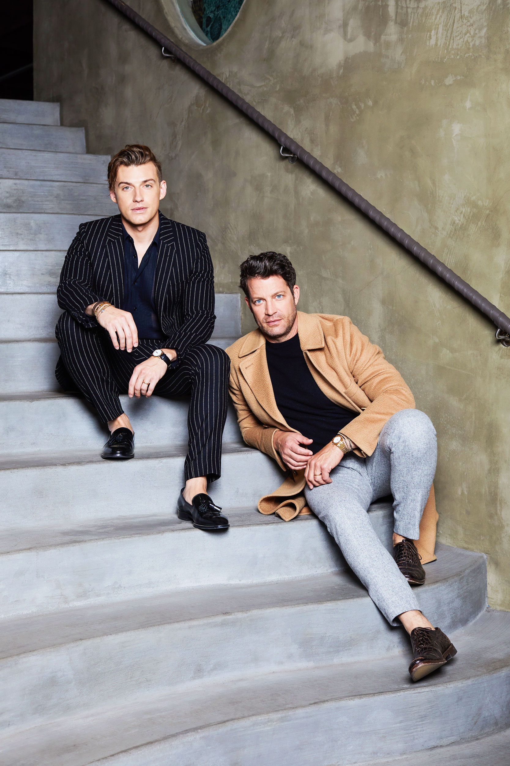 Celebrity designer Nate Berkus and Jeremiah Brent. Kim Genevieve Los Angeles Portrait Photographer