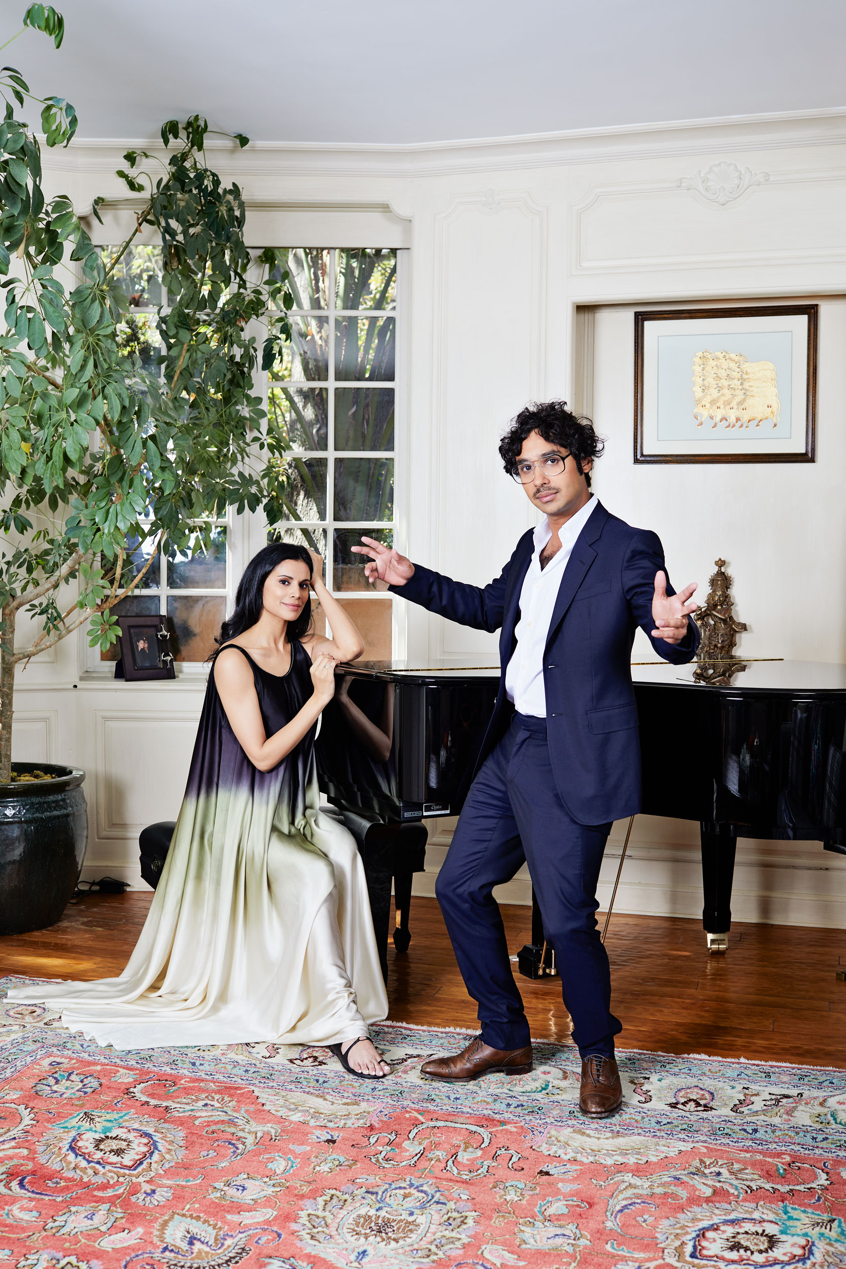 Big Bang Theory Kunal Nayyar and wife Neha Kapur. Kim Genevieve Los Angeles Portrait Photographer