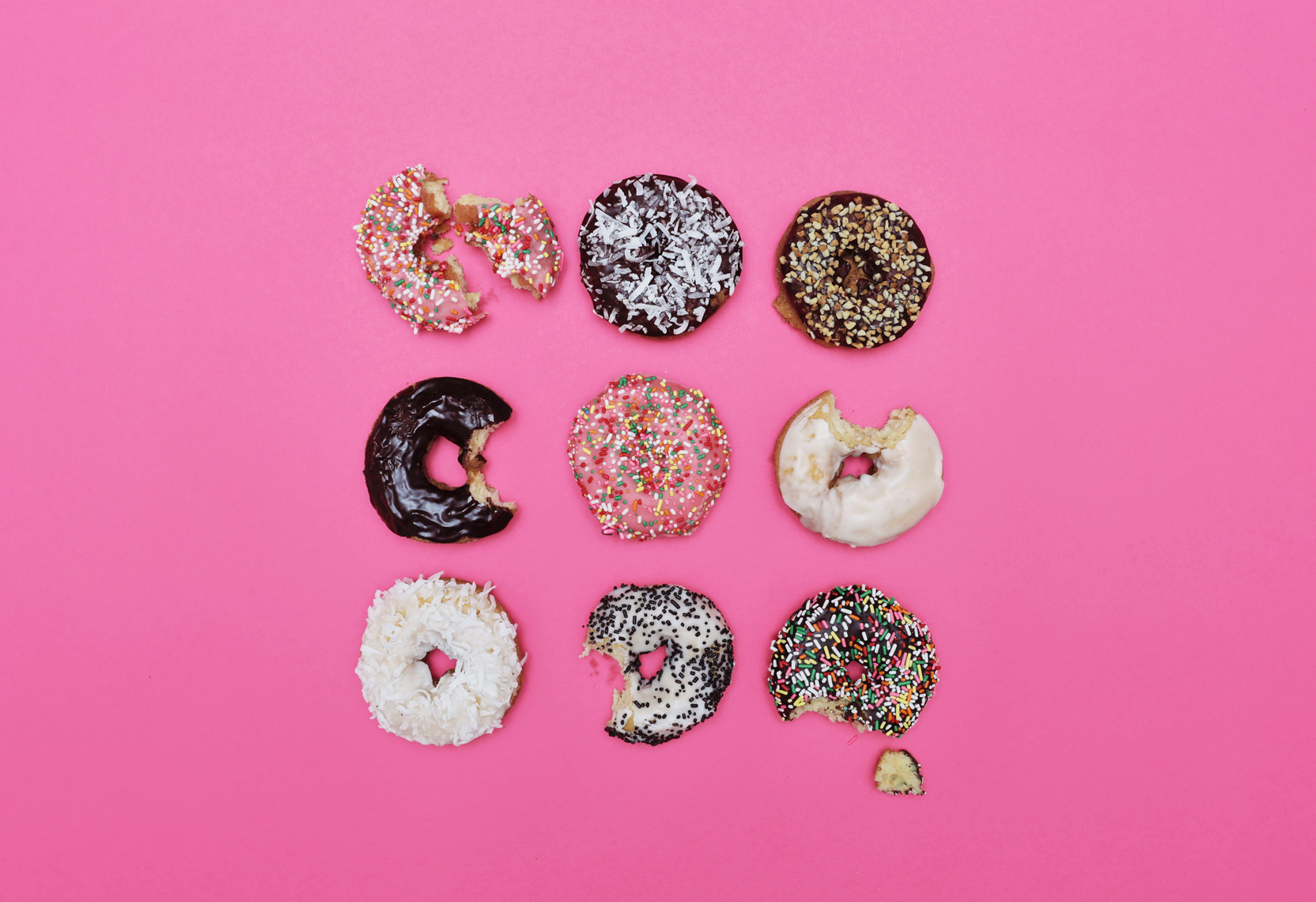 Assortment of donuts. Kimberly Genevieve lifestyle photographer Los Angeles
