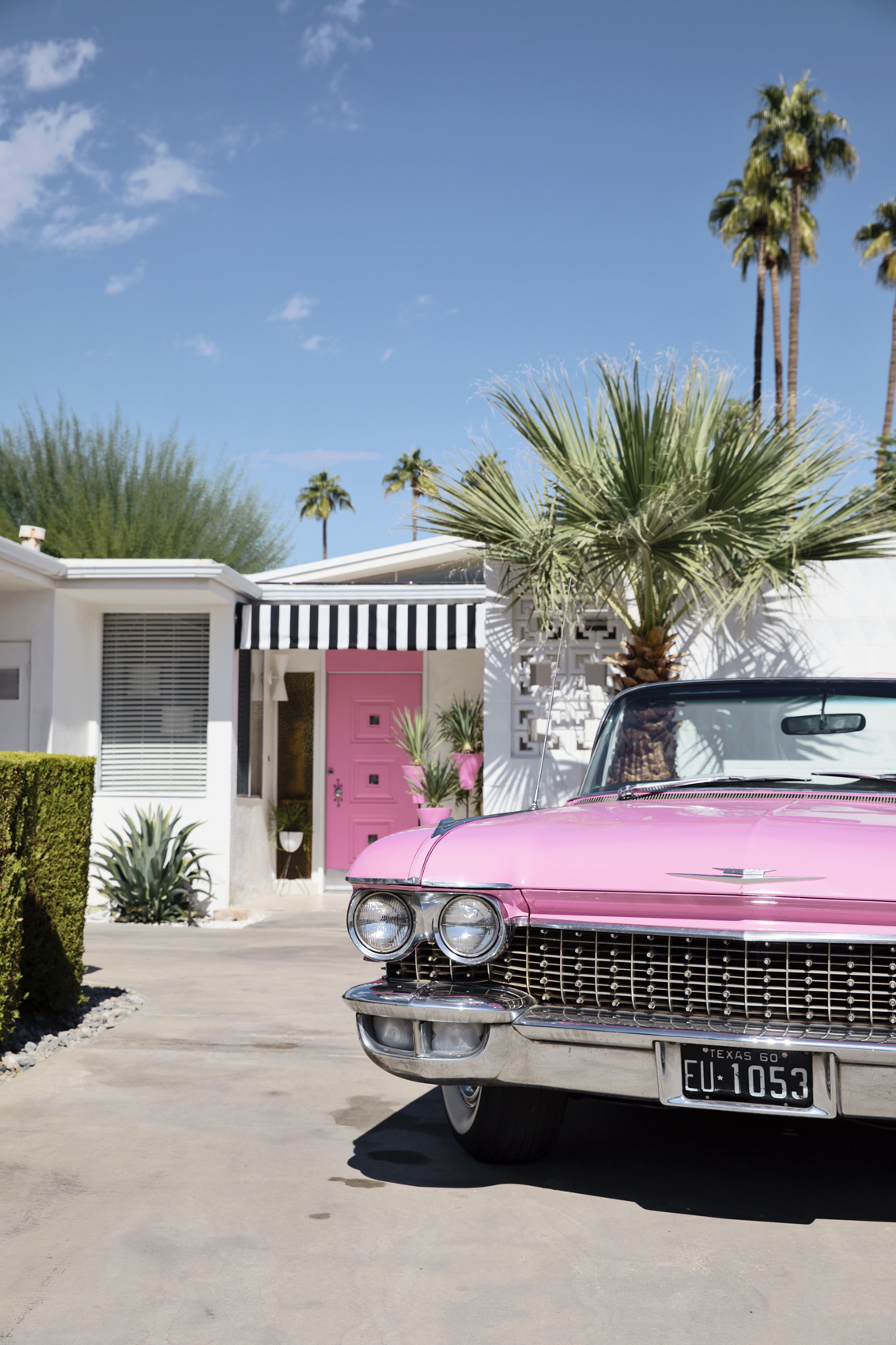Pink Cadillac Convertible - Kimberly Genevieve lifestyle photographer Los Angeles