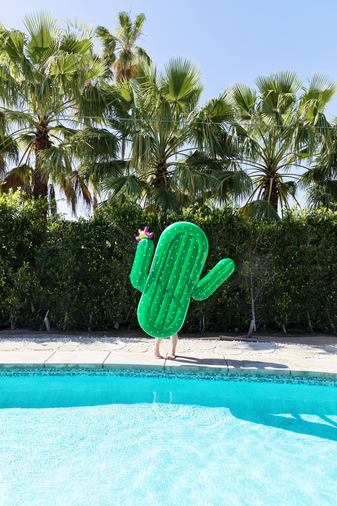 Sunnylife cactus pool float - Kimberly Genevieve lifestyle photographer Los Angeles